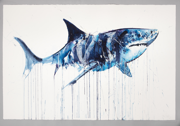 "Dave White ""Aquatic"" @ Lawrence Alkin Gallery, London: Great White I.jpg"