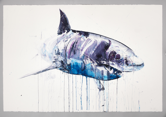 "Dave White ""Aquatic"" @ Lawrence Alkin Gallery, London: Great White II.jpg"