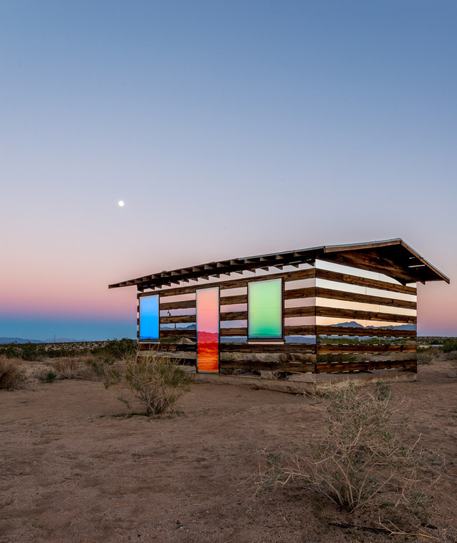 """Lucid Stead"" in the California Desert by Phillip K. Smith III: 5wjir3hs1pr30nlt.jpg"