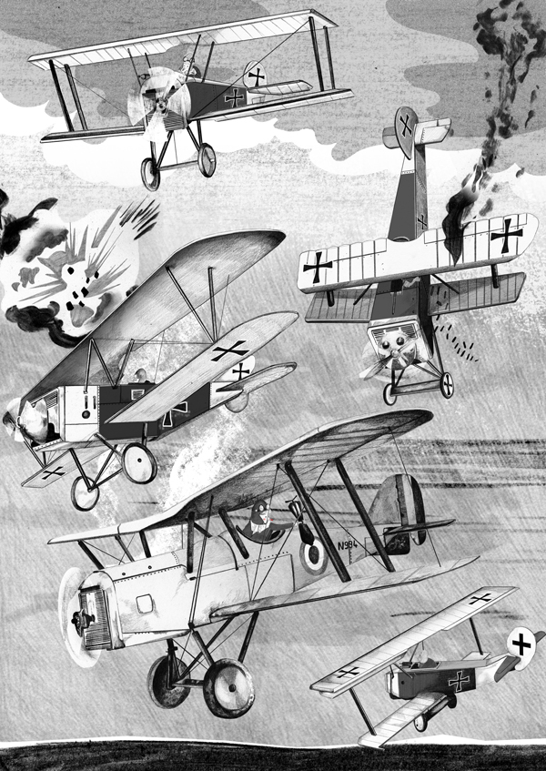 British illustrator Nathan Hackett: nathan-hackett-wartime-planes.jpg