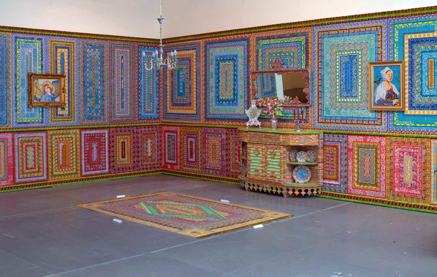 Installations Constructed From Discarded Lottery Tickets: dream_home.jpg