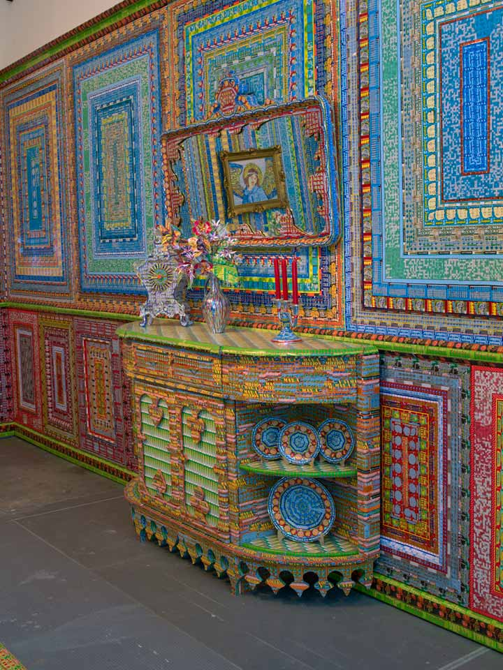 Installations Constructed From Discarded Lottery Tickets: dream_home_detail.jpg