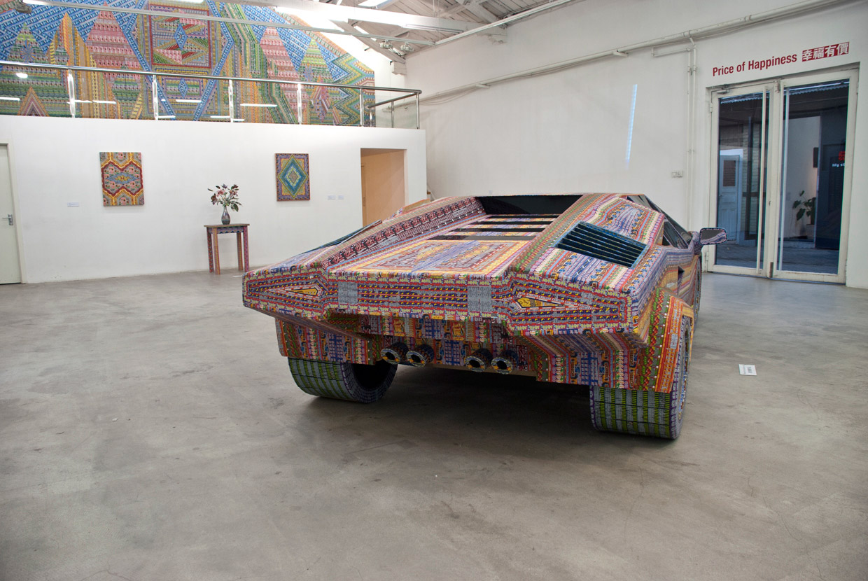 Installations Constructed From Discarded Lottery Tickets: dream_ride567-back.jpg