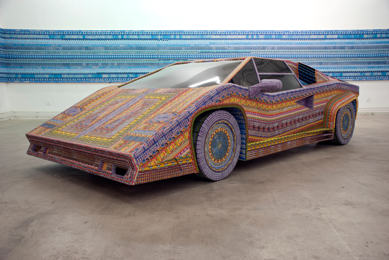 Installations Constructed From Discarded Lottery Tickets: dream_ride567.jpg