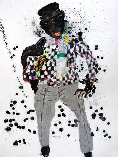 Paintings by Kura Shomali and Steve Bandoma: Juxtapoz-KuraShomali00.jpg