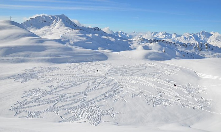 Simon Beck And His Giant Snow Crop Circles: 2.jpg
