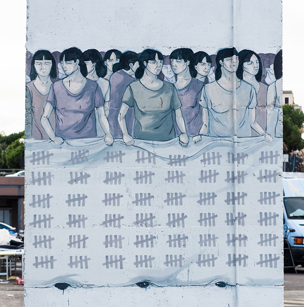 """ Stop Violence Against Woman"" by Hyuro in Formia, Italy: jux_hyuro1.jpg"