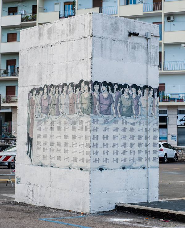 """ Stop Violence Against Woman"" by Hyuro in Formia, Italy: jux_hyuro3.jpg"
