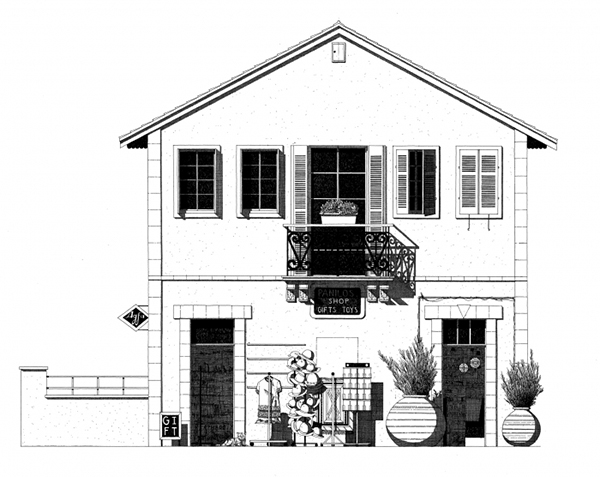Hand-Drawn Architectural Illustrations by Thibaud Herem: cyprus-net.jpg