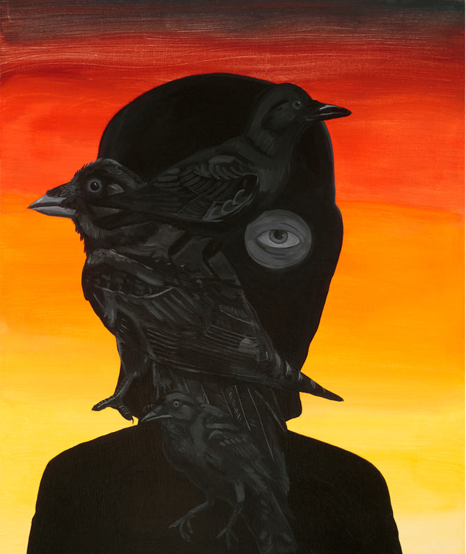 """Where We Find,"" Andrew Pommier @ Diginner Gallery, Tokyo: crow.jpg"