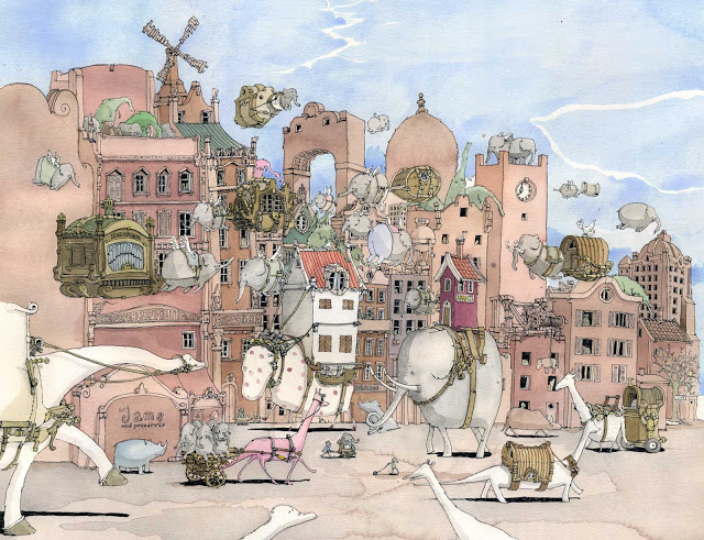 New Sketchbook Illustrations From Mattias Adolfsson: bleak-houses.jpg