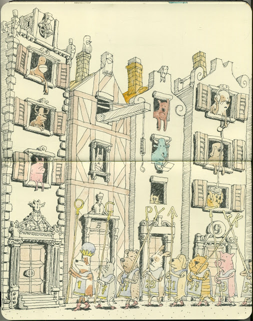 New Sketchbook Illustrations From Mattias Adolfsson: cermony.jpg