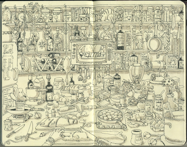 New Sketchbook Illustrations From Mattias Adolfsson: cookingchannel.jpg