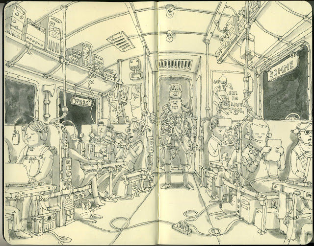 New Sketchbook Illustrations From Mattias Adolfsson: digitaltransportation.jpg