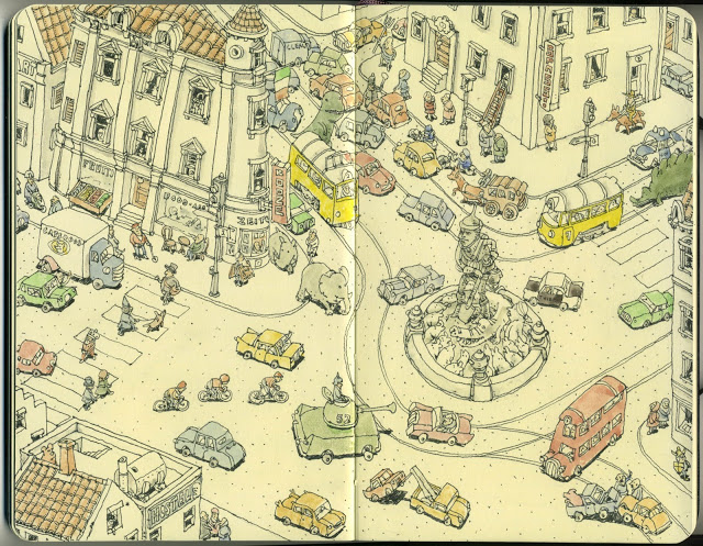 New Sketchbook Illustrations From Mattias Adolfsson: grindlock.jpg