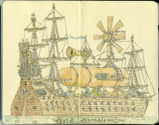 New Sketchbook Illustrations From Mattias Adolfsson: imperial-2.jpg