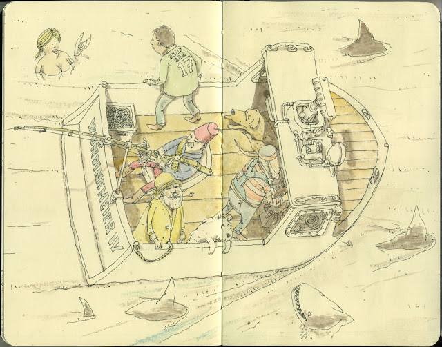 New Sketchbook Illustrations From Mattias Adolfsson: imperial-5.jpg