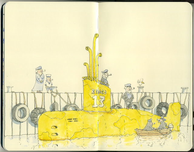 New Sketchbook Illustrations From Mattias Adolfsson: mellowyellow.jpg