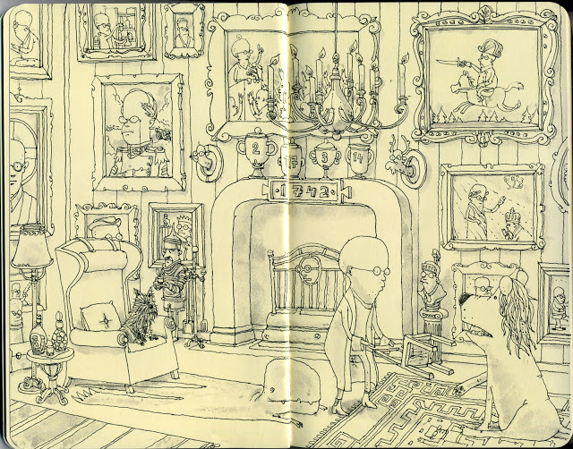 New Sketchbook Illustrations From Mattias Adolfsson: mememe.jpg
