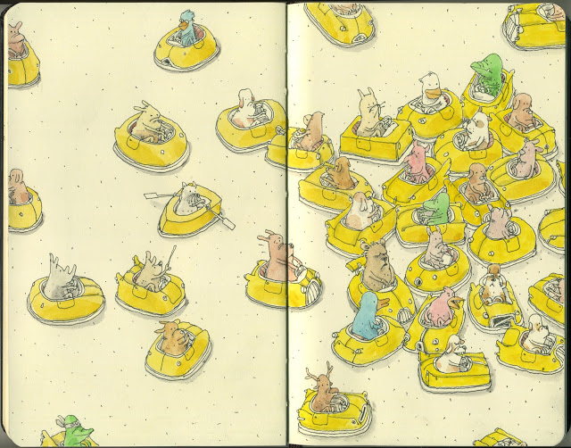New Sketchbook Illustrations From Mattias Adolfsson: return-of-the-bump.jpg