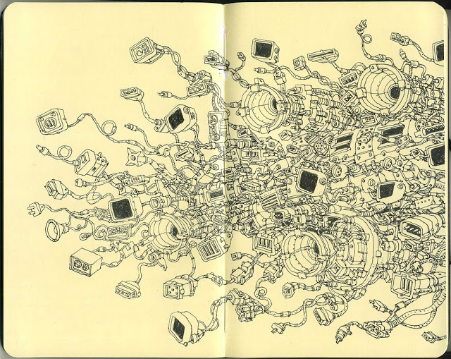 New Sketchbook Illustrations From Mattias Adolfsson: sloppy.jpg