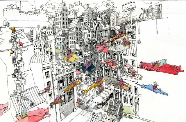New Sketchbook Illustrations From Mattias Adolfsson: thefuture.jpg