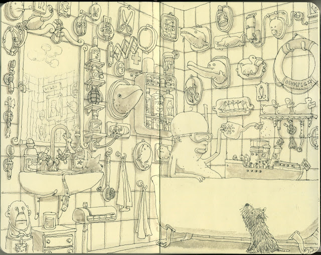 New Sketchbook Illustrations From Mattias Adolfsson: weather.jpg