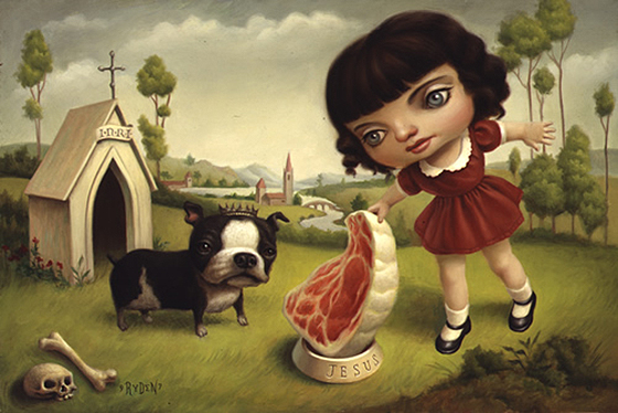 Mark Ryden's Holiday Spirit: A_Dog_Named_Jesus.jpg