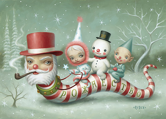 Mark Ryden's Holiday Spirit: Santa_Worm.jpg