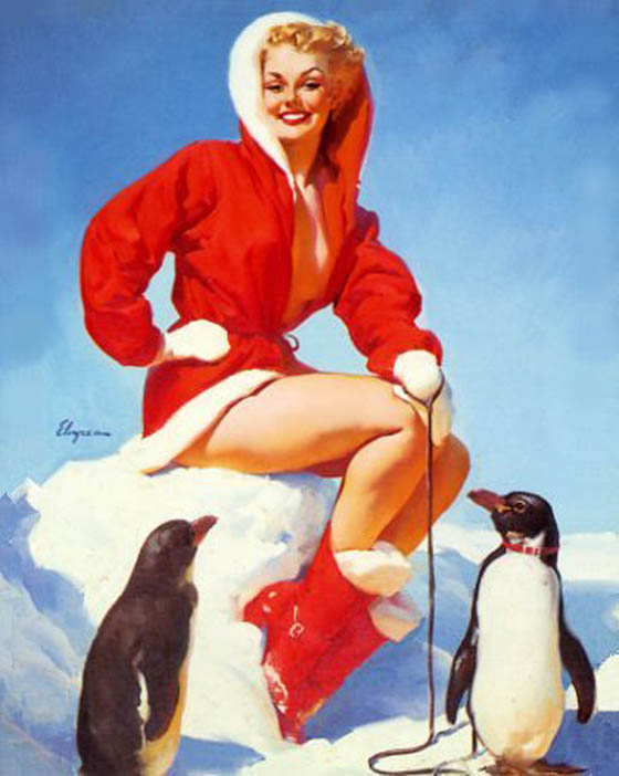 A Pinup Christmas: elvgrenOut_in_the_Cold.jpg