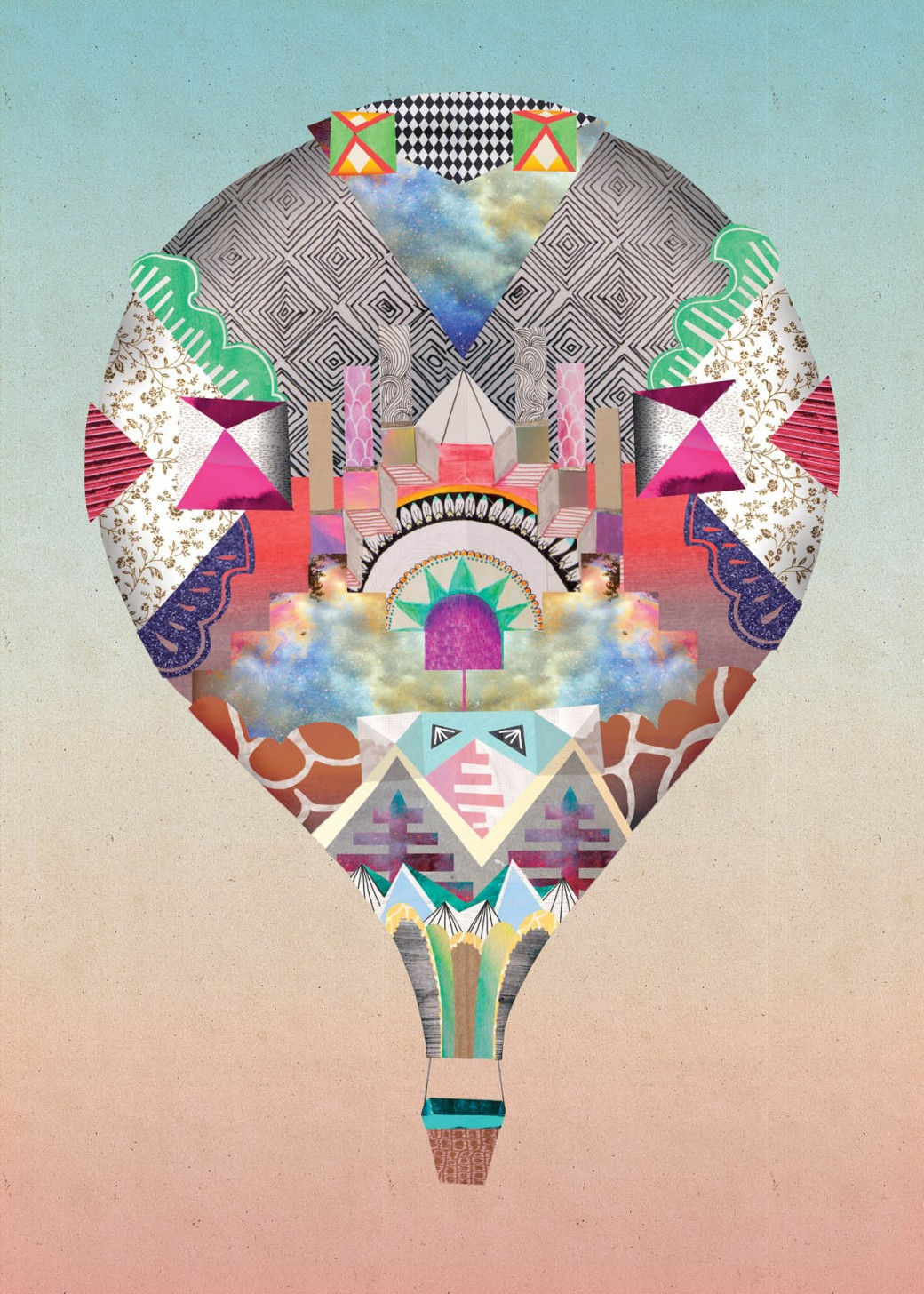Sam Pierpoint's 3D Paper Illustrations: cogo_house_balloon-1040x1456.jpg