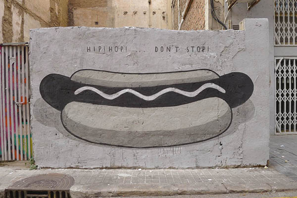 """Fast food is not a crime"" a series of walls by Escif: jux_escif1.jpg"