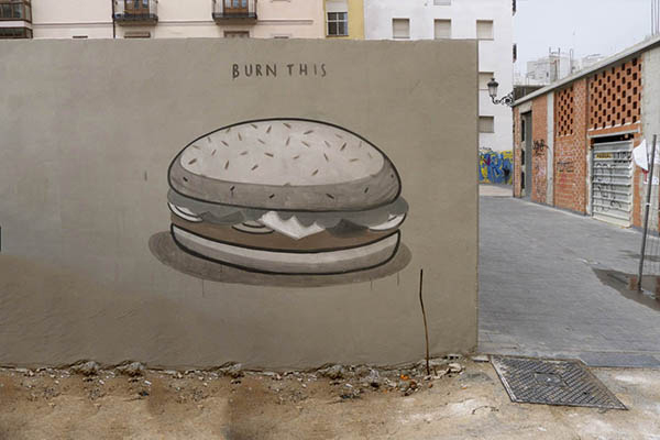 """Fast food is not a crime"" a series of walls by Escif: jux_escif2.jpg"