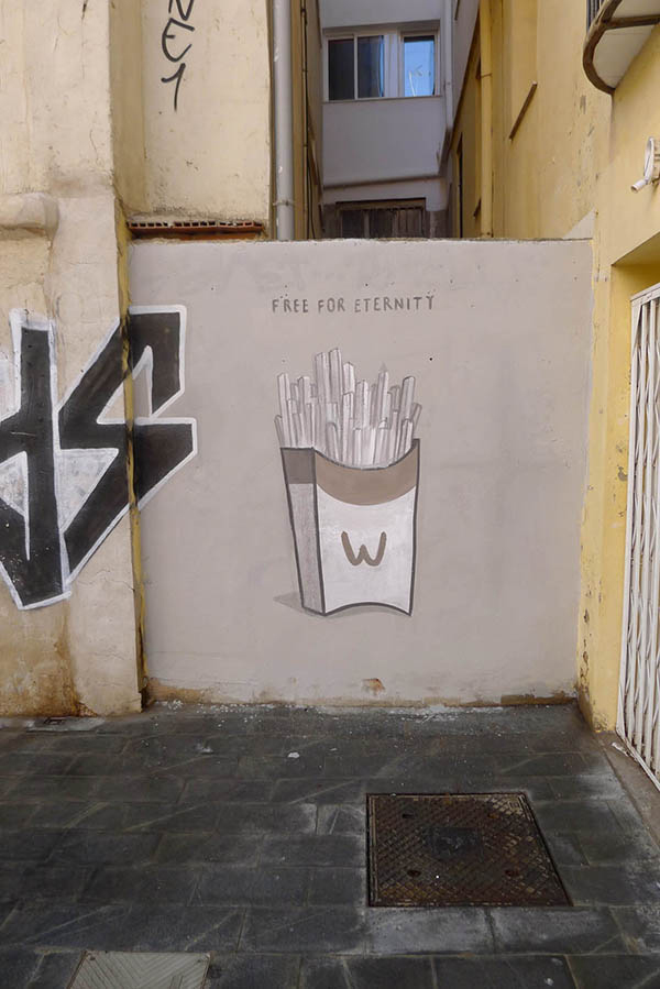 """Fast food is not a crime"" a series of walls by Escif: jux_escif4.jpg"