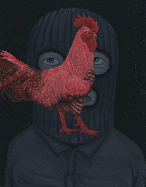 New Paintings and Sketches by Andrew Pommier: rooster2_2.jpg
