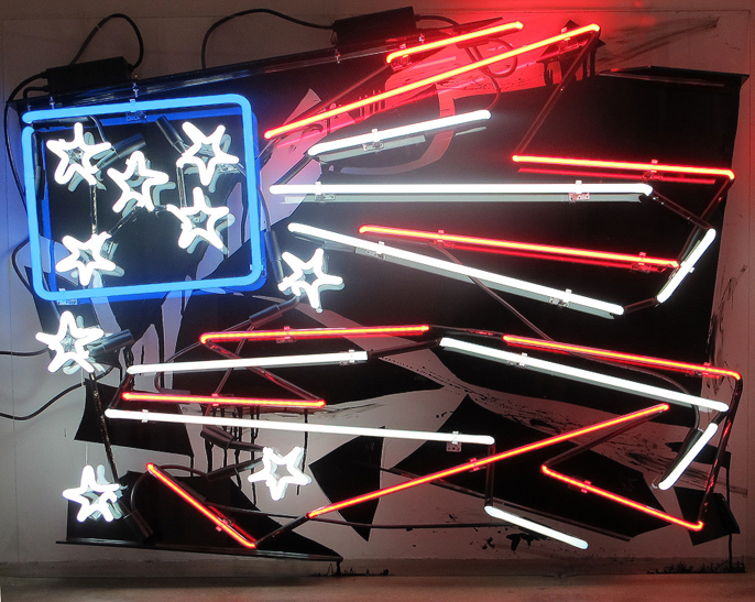 New Neon: Light, Paint & Photography @ Bedford Gallery, Walnut Creek: Martinez- JPEG - 1992 Los Angeles Riots.JPG