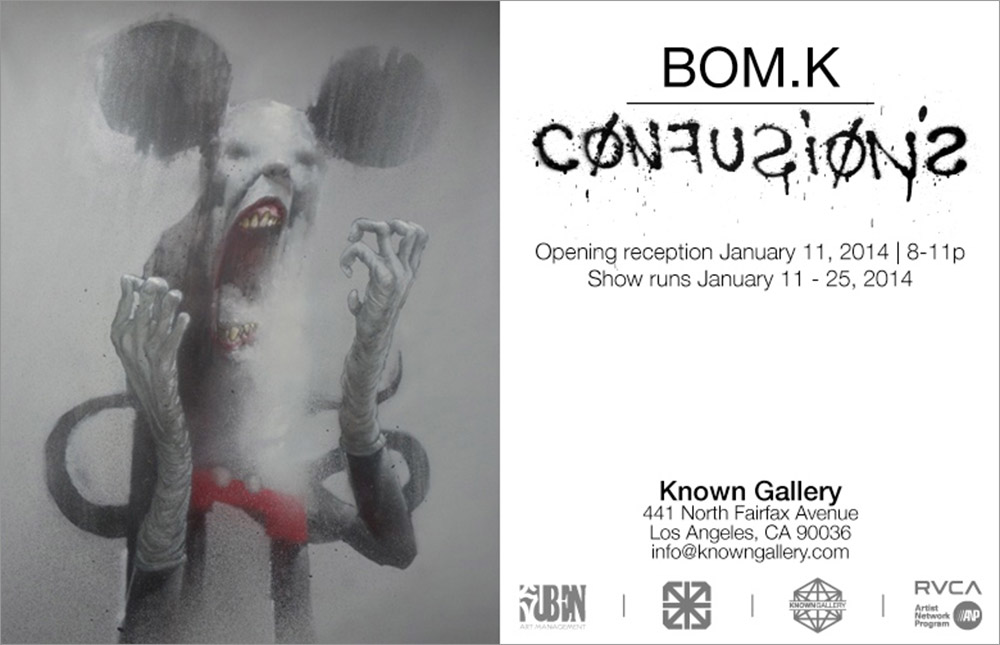 "BOM.K ""Confusions"" @ Known Gallery, Los Angeles: -Bomk Flyer.jpg"
