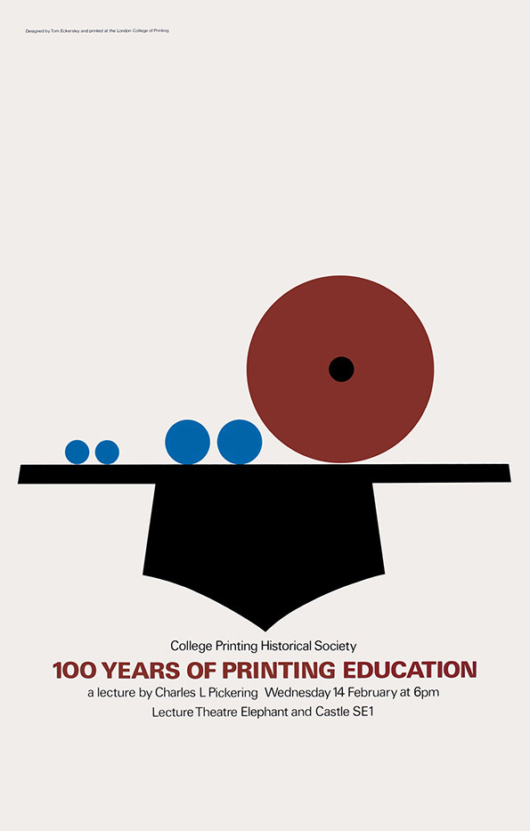 Tom Eckersley: Master of the Poster @ London College of Communication: TE_100yearsprinting.jpg