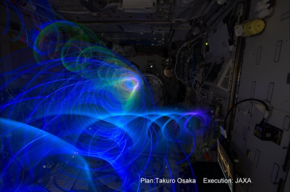 Koichi Wakata Light Paints Aboard the Space Station: wakataosakalightpainting.jpg