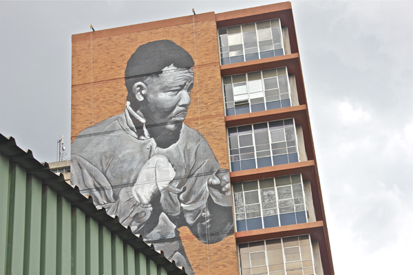 Freddy Sam paints massive Nelson Mandela tribute in johannesburg: jux_nelson_mandela5.jpg