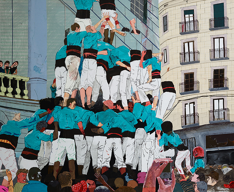 The Works of Michael Swaney: 94_castellers.jpg