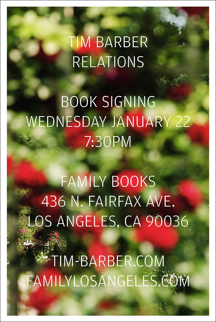"Tim Barber ""Relations"" Booklaunch and Signing @ Family Bookstore, Los Angeles: unnamed.jpg"