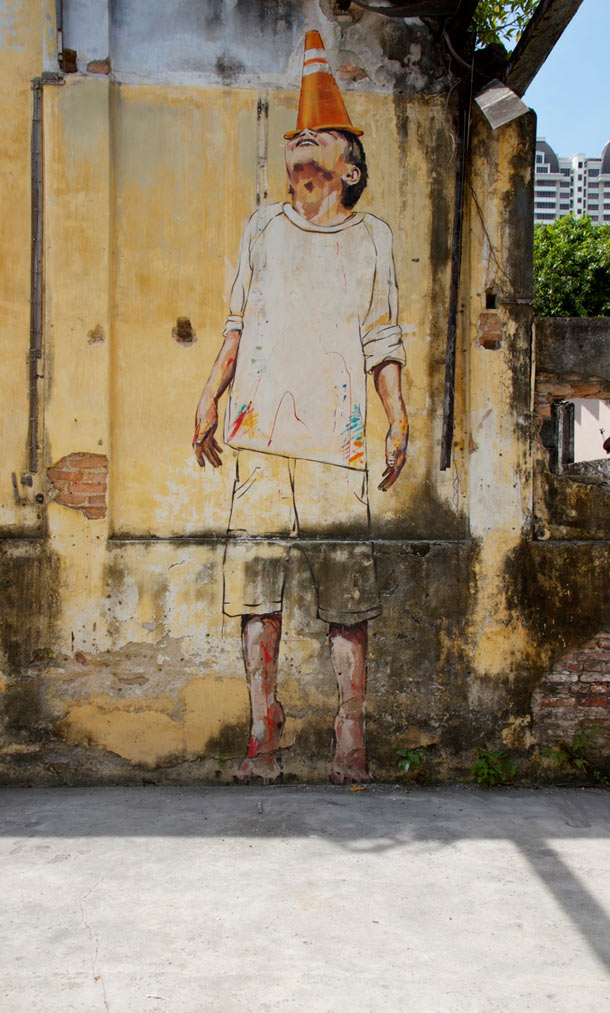 "Ernest Zacharevic ""Art is Rubbish/Rubbish is Art"" @ Hin Company Bus Depot, Penang, Malaysia: 07.-IMG_6029.jpg"