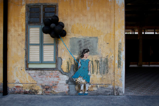 "Ernest Zacharevic ""Art is Rubbish/Rubbish is Art"" @ Hin Company Bus Depot, Penang, Malaysia: 13.-IMG_6217.jpg"