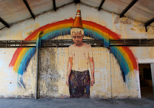 "Ernest Zacharevic ""Art is Rubbish/Rubbish is Art"" @ Hin Company Bus Depot, Penang, Malaysia: 15.-IMG_6073.jpg"