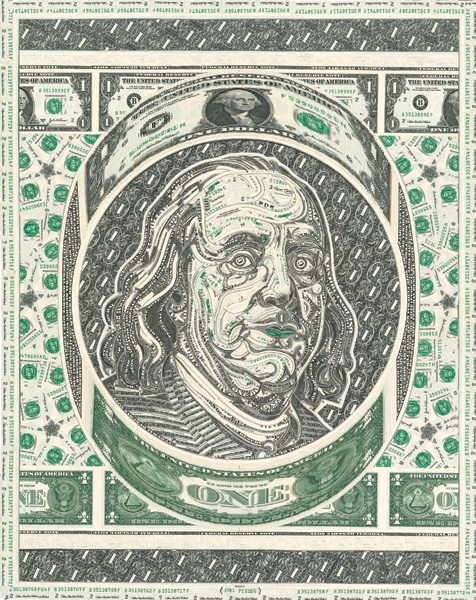Money Is Material: Money Portraits by Mark Wagner: MW_CP_BENJAMIN.jpg