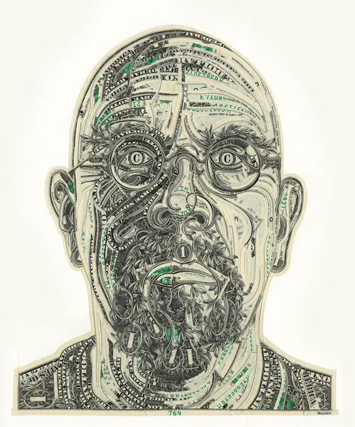 Money Is Material: Money Portraits by Mark Wagner: MW_CP_CHUCK.jpg