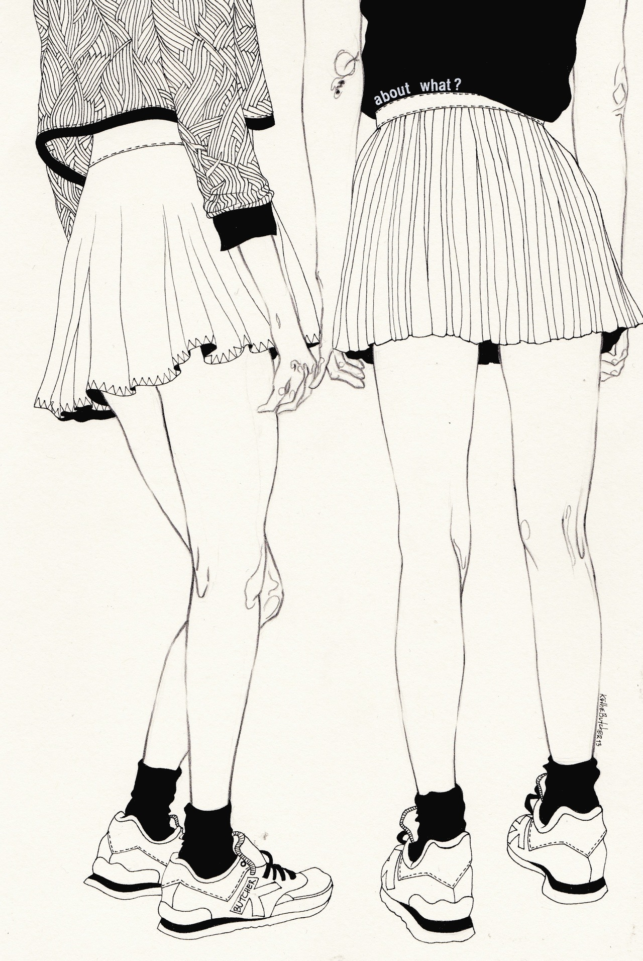 Black and White drawings from Kaethe Butcher: tumblr_mws966SyVK1sj1vz2o1_1280.jpg