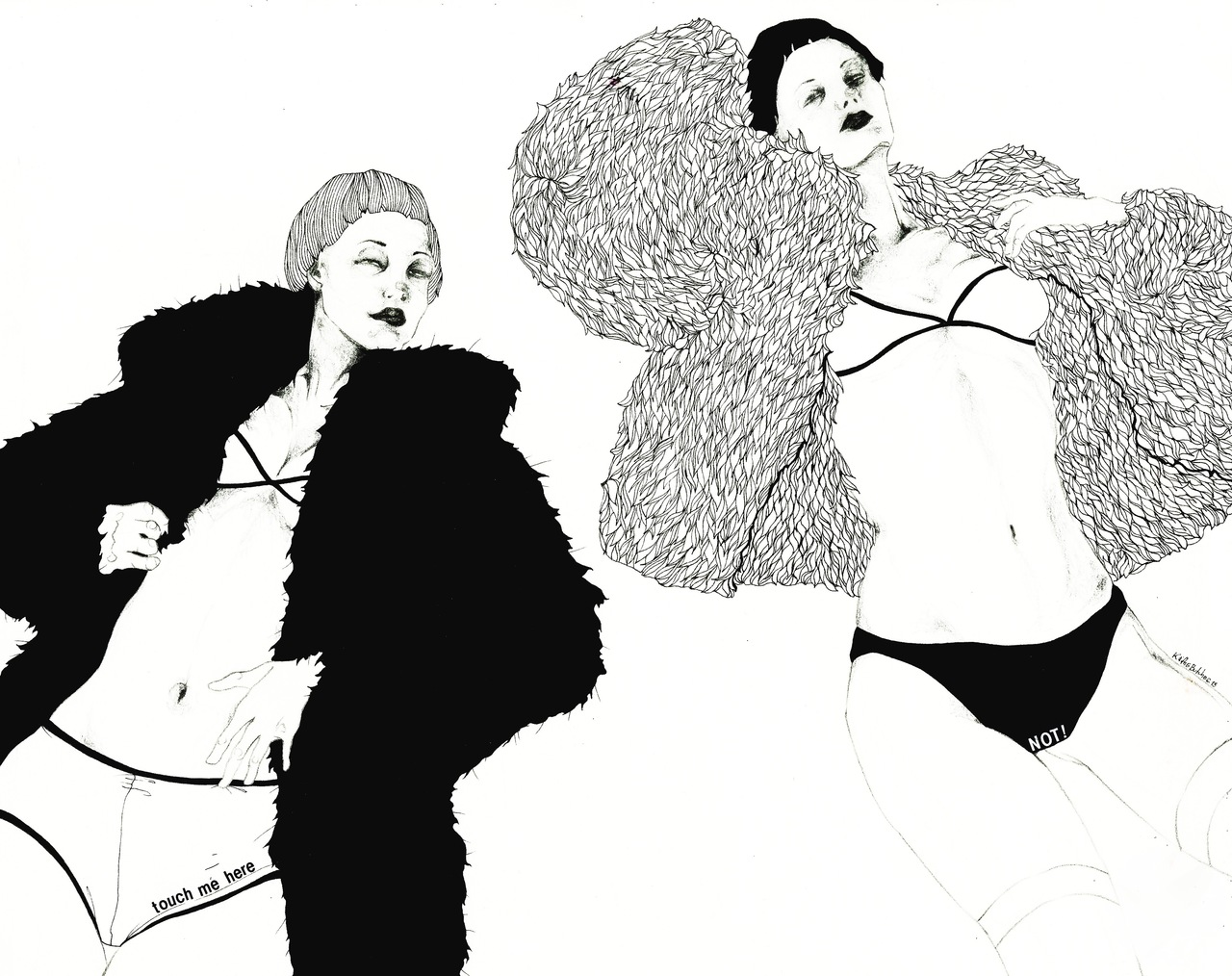 Black and White drawings from Kaethe Butcher: tumblr_mwvh7aRdyr1sj1vz2o1_1280.jpg