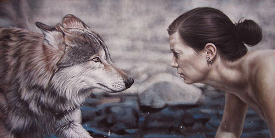 The Work of Truls Espedal: the-wolf100x50-cm.jpg
